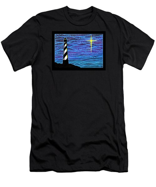 O Holy Night Hatteras Men's T-Shirt (Athletic Fit)