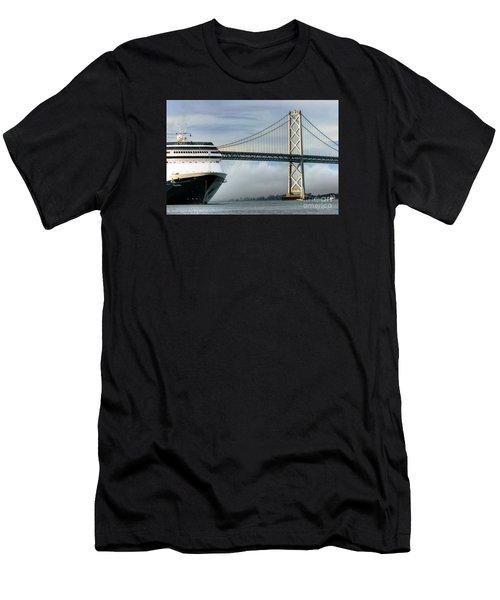 Oakland Bay Bridge  Men's T-Shirt (Athletic Fit)
