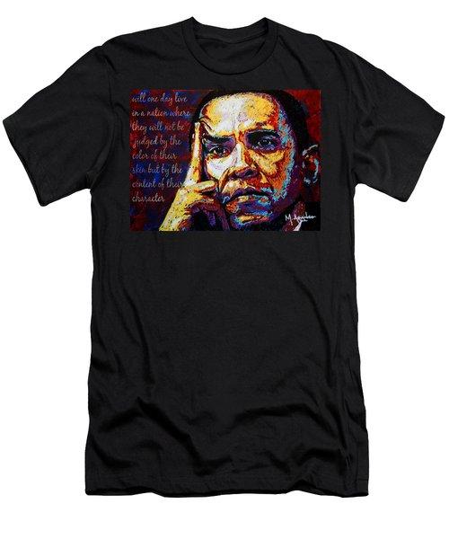 Obama Men's T-Shirt (Slim Fit) by Maria Arango