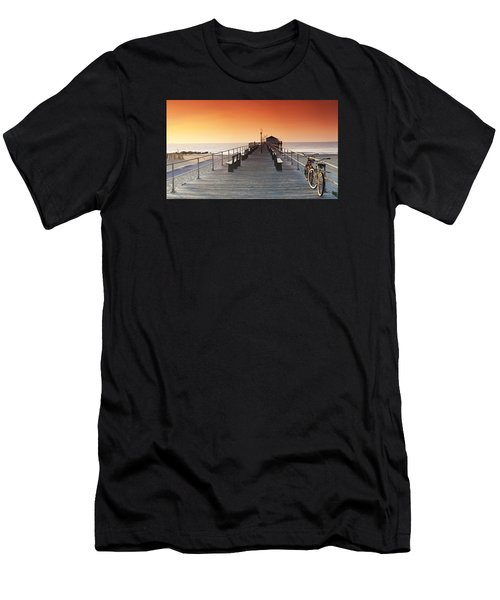 Ocean Grove Jetty In Nj Men's T-Shirt (Athletic Fit)