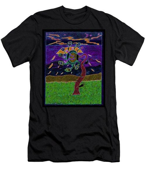 Ocean Side Flower At Sun Set    V3 Men's T-Shirt (Athletic Fit)