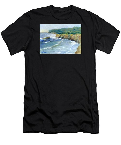 Ocean Surf Colorful Original Seascape Painting Men's T-Shirt (Athletic Fit)