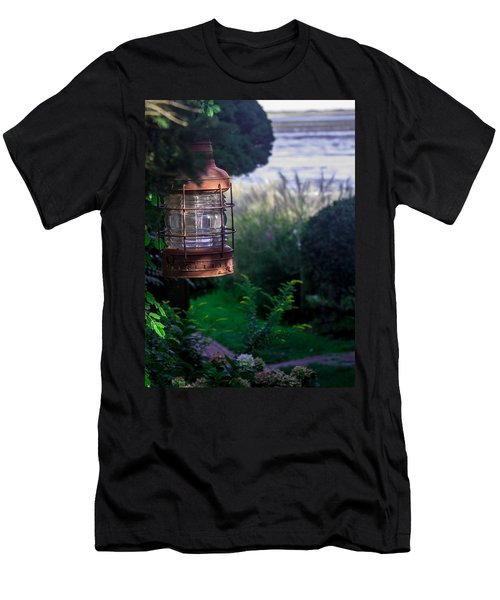 Men's T-Shirt (Slim Fit) featuring the photograph Oceanside Lantern by Patrice Zinck