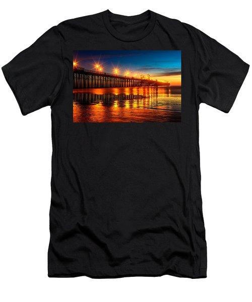Oceanside Pier 2 Men's T-Shirt (Athletic Fit)