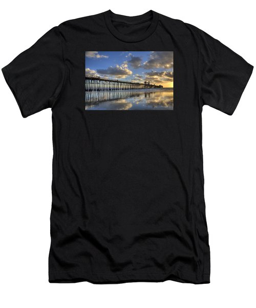 Oceanside Pier Sunset Reflection Men's T-Shirt (Athletic Fit)