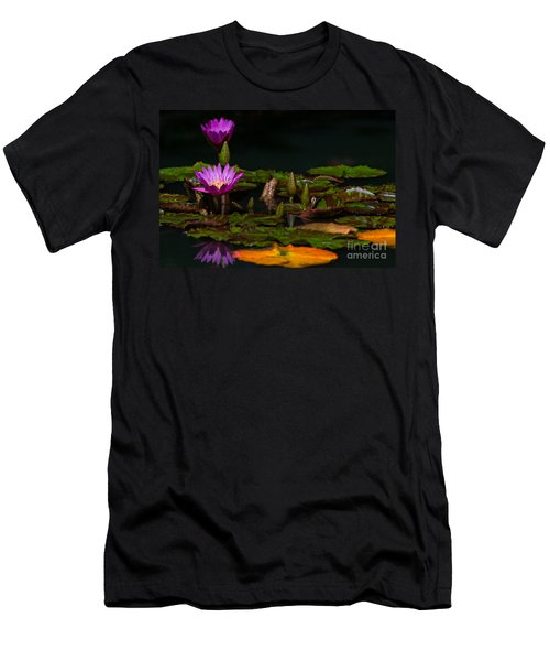October Lilies 2 Men's T-Shirt (Athletic Fit)