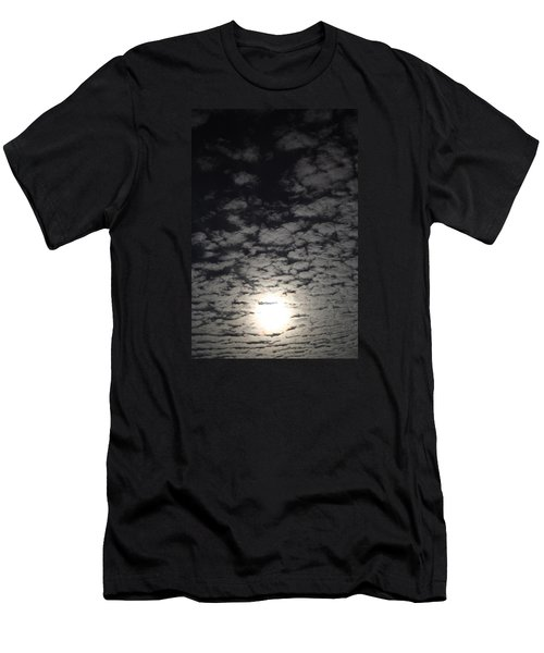 Men's T-Shirt (Slim Fit) featuring the pyrography October Moon by Joel Loftus