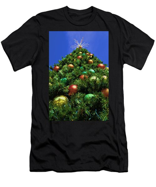 Men's T-Shirt (Slim Fit) featuring the photograph Oh Christmas Tree by Kathy Churchman