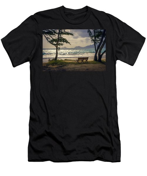 Men's T-Shirt (Athletic Fit) featuring the photograph Oahu Sunrise by Steven Sparks