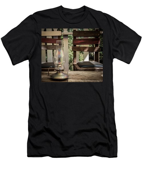Oil Lamp 2 Men's T-Shirt (Slim Fit) by Gandz Photography
