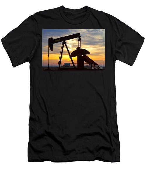 Oil Pump Sunrise Men's T-Shirt (Athletic Fit)