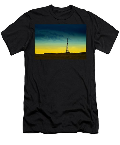 Oil Rig In The Spring Men's T-Shirt (Athletic Fit)