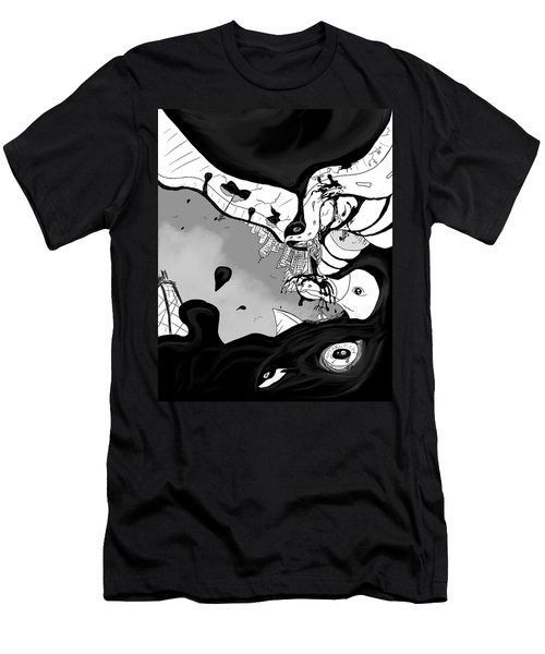 Oil Spill Men's T-Shirt (Athletic Fit)
