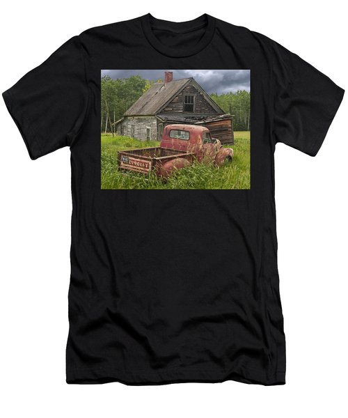 Old Abandoned Homestead And Truck Men's T-Shirt (Athletic Fit)