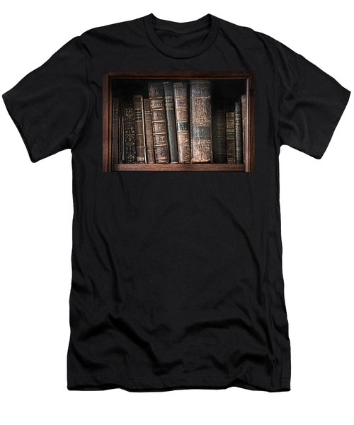 Old Books On The Shelf - 19th Century Library Men's T-Shirt (Athletic Fit)