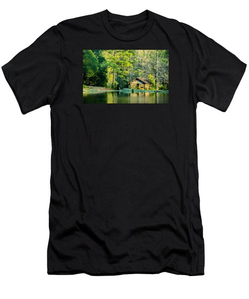 Old Cabin By The Pond Men's T-Shirt (Slim Fit) by Parker Cunningham