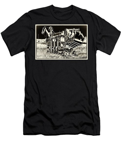 Old Case Thresher - Black And White Men's T-Shirt (Athletic Fit)