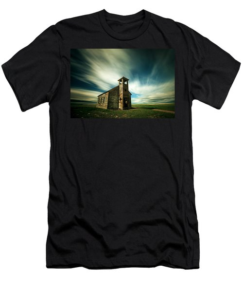 Men's T-Shirt (Athletic Fit) featuring the photograph Old Cottonwood Church by Todd Klassy