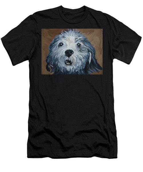 Men's T-Shirt (Slim Fit) featuring the painting Old Dogs Are The Best Dogs by Leslie Manley