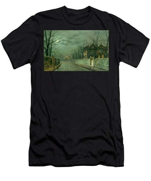 Old English House, Moonlight Men's T-Shirt (Athletic Fit)