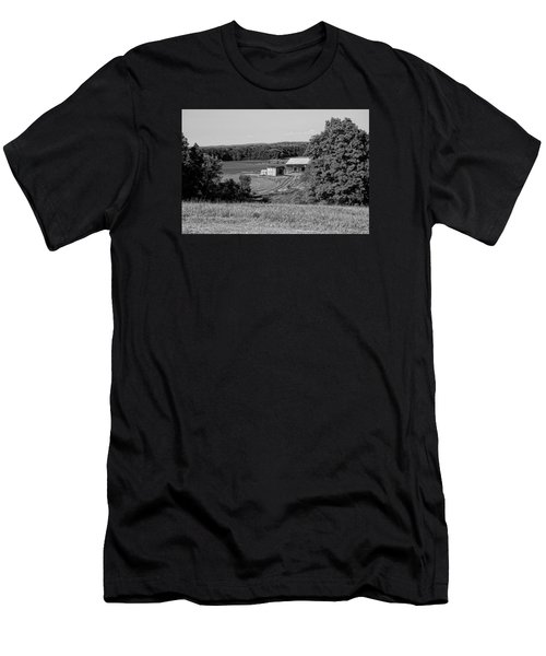 Old Farm House Revisited Men's T-Shirt (Athletic Fit)