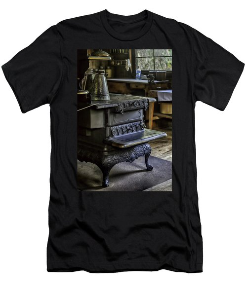 Old Farm Kitchen And Wood Burning Stove Men's T-Shirt (Slim Fit) by Lynn Palmer