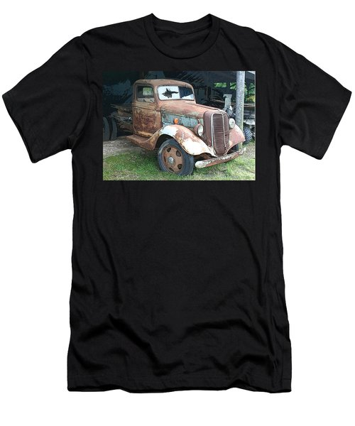 Old Farm Truck Men's T-Shirt (Athletic Fit)