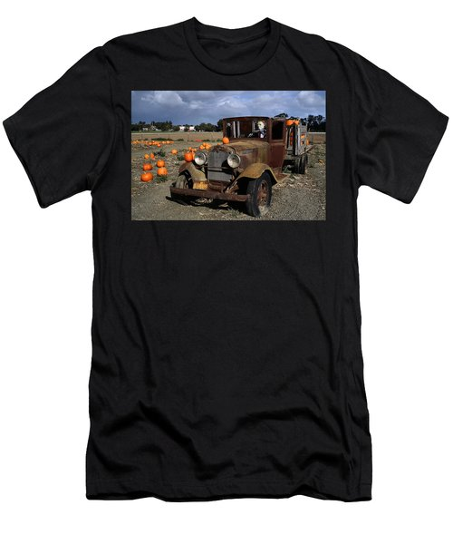 Men's T-Shirt (Slim Fit) featuring the photograph Old Farm Truck by Michael Gordon