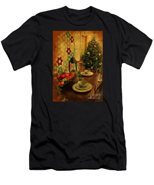 Men's T-Shirt (Slim Fit) featuring the photograph Old Fashion Christmas At Atalaya by Kathy Baccari