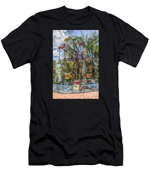 Old Fashioned Ferris Wheel Men's T-Shirt (Athletic Fit)