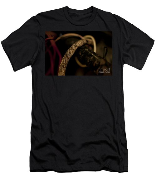 Old Frayed Wires Men's T-Shirt (Slim Fit) by Wilma  Birdwell