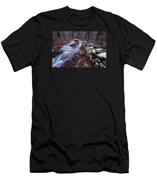Old Homestead Men's T-Shirt (Slim Fit) by Andy Crawford