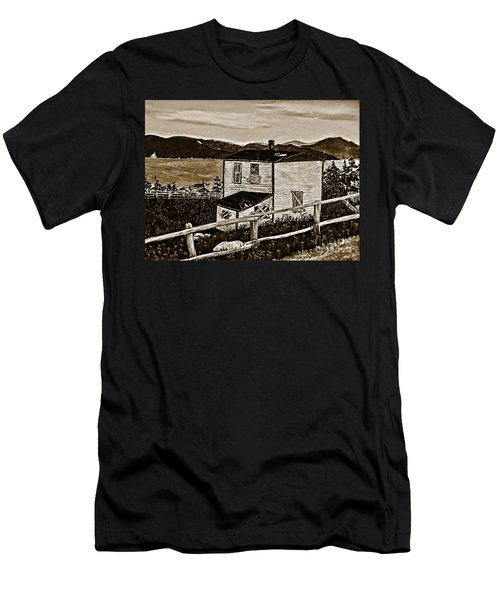 Old House In Sepia Men's T-Shirt (Slim Fit) by Barbara Griffin