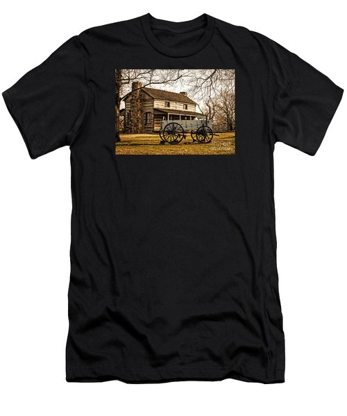 Old Log Cabin In Autumn Men's T-Shirt (Athletic Fit)