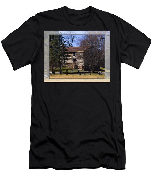 Old Log Home Men's T-Shirt (Slim Fit) by Walter Herrit