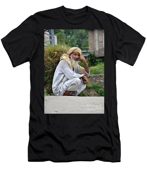 Old Man Carrying Fodder Swat Valley Kpk Pakistan Men's T-Shirt (Athletic Fit)