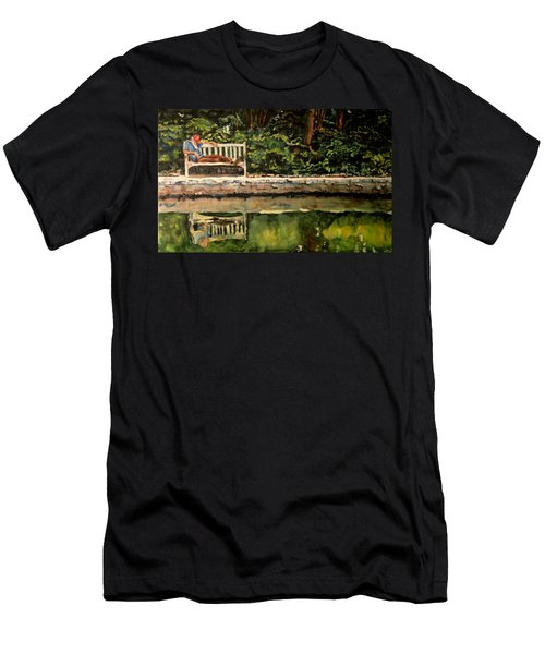 Old Man On A Bench Men's T-Shirt (Athletic Fit)