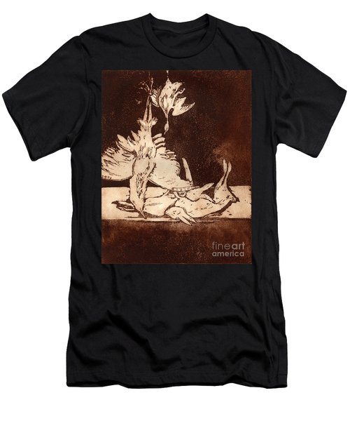 Old Masters Still Life - With Great Bittern Duck Rabbit - Nature Morte - Natura Morta - Still Life Men's T-Shirt (Athletic Fit)