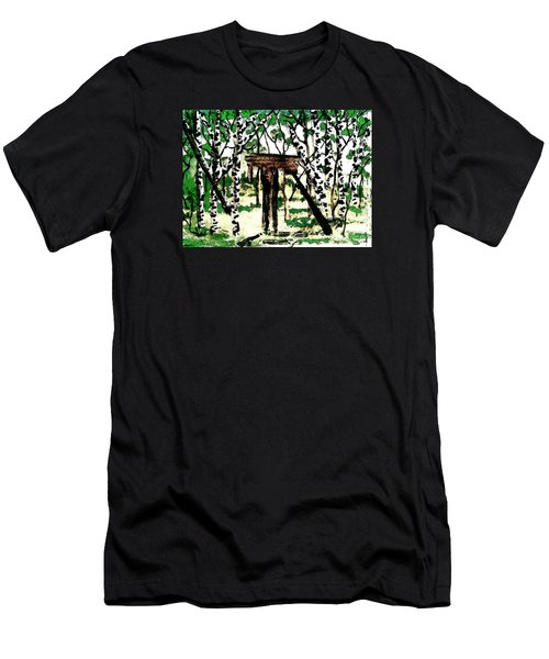 Men's T-Shirt (Slim Fit) featuring the painting Old Obstacles by Denise Tomasura