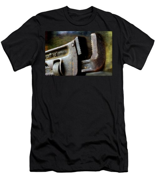 Old Pipe Wrench Men's T-Shirt (Slim Fit) by Michael Eingle