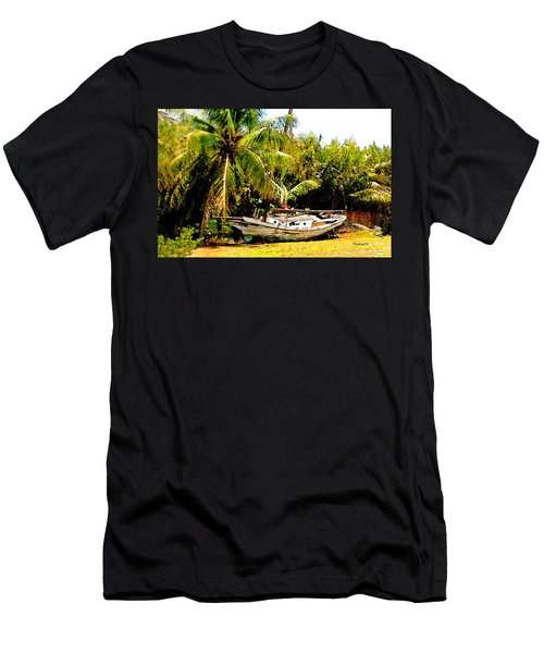 Old Sailboat In Key Largo Men's T-Shirt (Athletic Fit)
