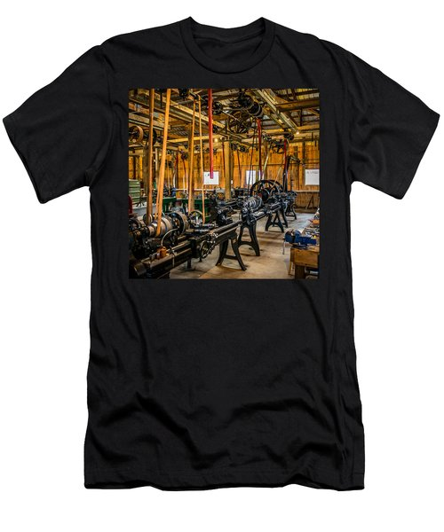 Old School Machine Shop Men's T-Shirt (Athletic Fit)