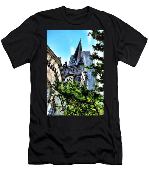 Old Stone Church - Cleveland Ohio - 1 Men's T-Shirt (Athletic Fit)