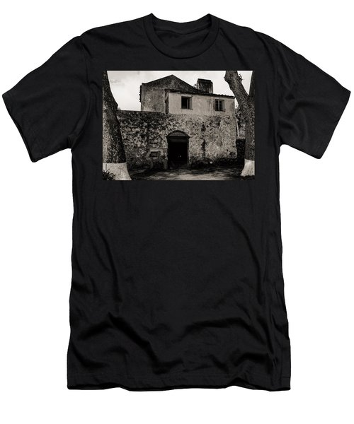 Old Stone House And Wall  Men's T-Shirt (Athletic Fit)