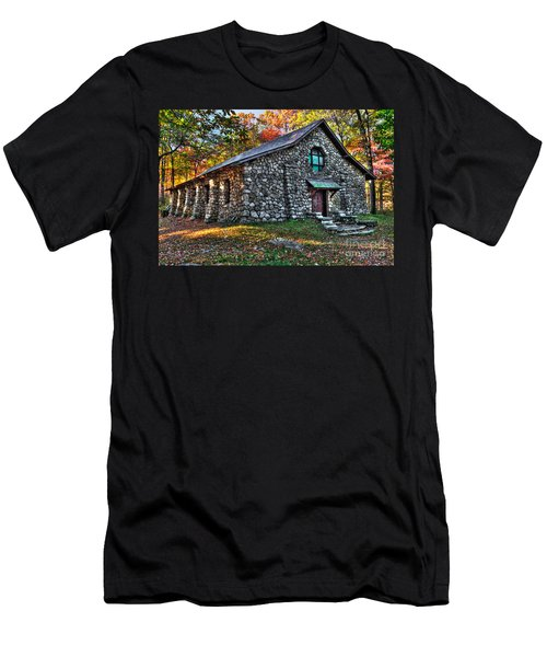 Old Stone Lodge Men's T-Shirt (Slim Fit) by Anthony Sacco