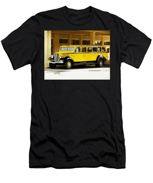 Old Time Yellowstone Bus Men's T-Shirt (Slim Fit) by David Lawson