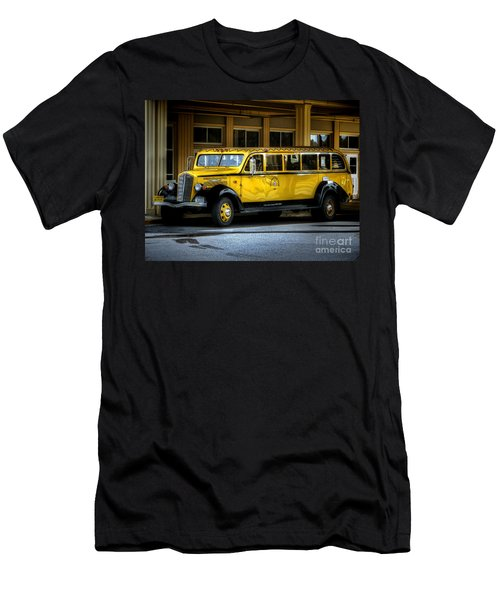 Old Time Yellowstone Bus II Men's T-Shirt (Slim Fit) by David Lawson