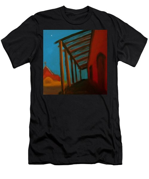 Men's T-Shirt (Slim Fit) featuring the painting Old Town by Keith Thue