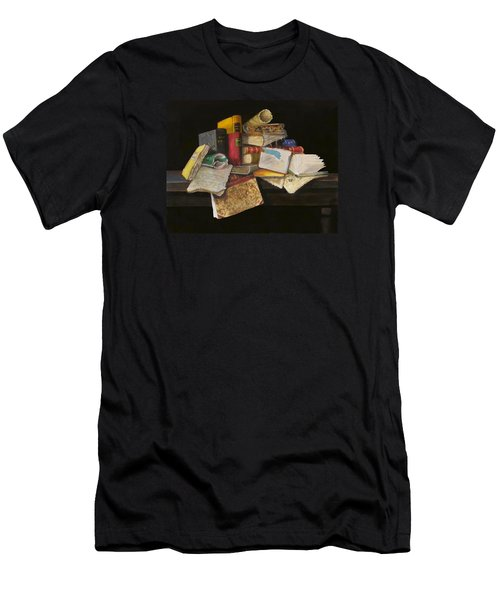 Men's T-Shirt (Slim Fit) featuring the painting Old Traditions by Barry Williamson