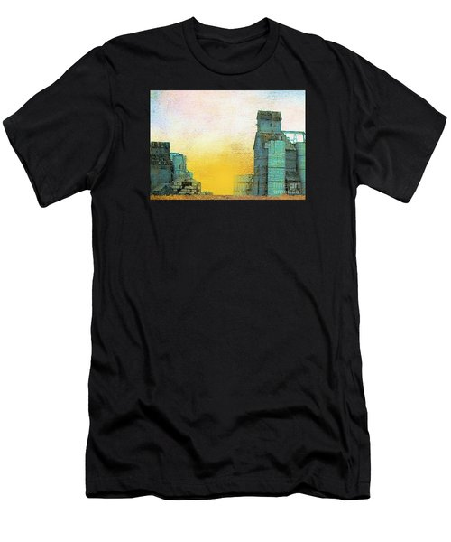 Old Used Grain Elevator Men's T-Shirt (Athletic Fit)